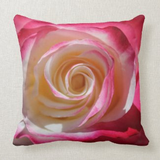 Into The Rose Pink Swirls Throw Pillow