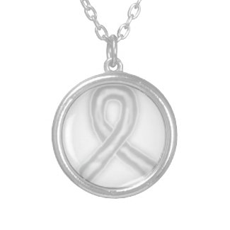 Invisible Awareness Ribbon Necklace