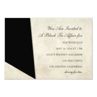 Invitation | Black Tie Affair | Zazzle