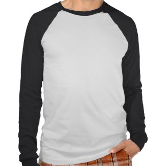 iParty long sleave mens blk n wht raglan shirt