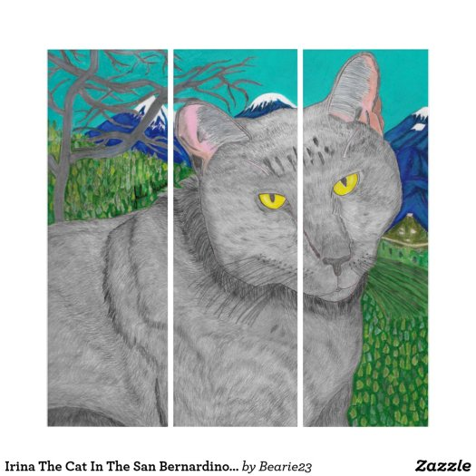 Irina The Cat In The San Bernardino Mountains Triptych