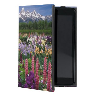 Iris and Lupine garden and Teton Range, Cover For iPad Mini