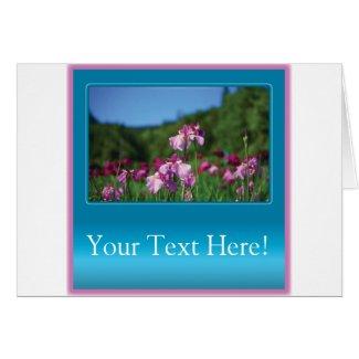 Iris of the Field Customizable Card