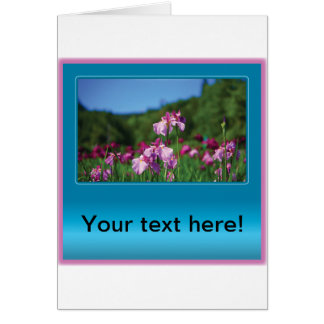 Iris of the Field Customizable Greeting Cards