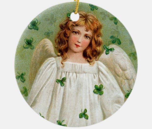 Irish Angel Christmas Ornament Nollaig Shona Duit Ceramic Ornament