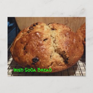 Irish Soda Bread Recipe Post Card postcard