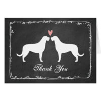 Irish Wolfhounds Wedding Thank You Card