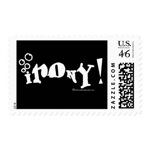 irony! stamp stamp