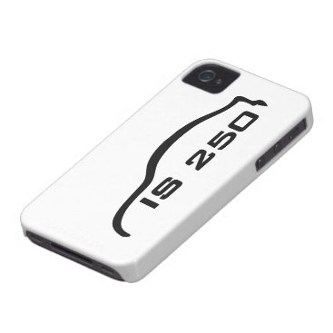 IS250 Black Silhouette Logo with white background Case-Mate iPhone 4 Case