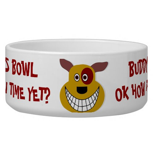 Is It Chow Time Yet ~ Personalized Dog Bowl petbowl