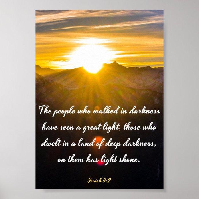 Isaiah 9:2 - Bible Verse Poster