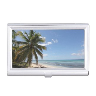 Isla Saona Caribbean Paradise Beach Business Card Cases