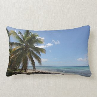 Isla Saona Caribbean Paradise Beach Throw Pillows