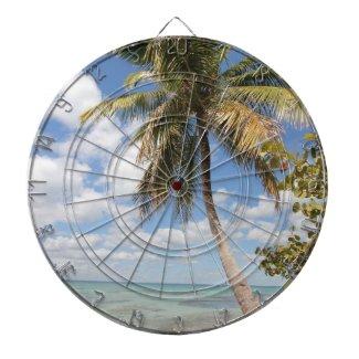 Isla Saona - Palm Tree at the Beach Dartboard With Darts