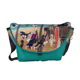 Island Summer Vacation Labradors Courier Bag