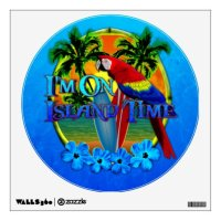 Island Time Sunset Wall Decal | Zazzle