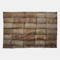 Italian Wine Cork Collection Bar Towel