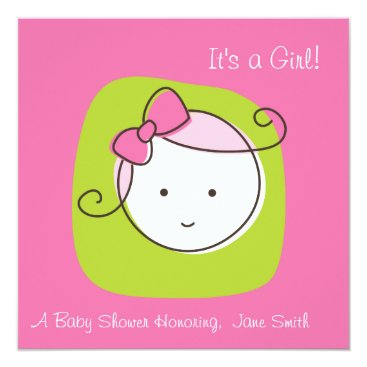 It's a Girl! Baby Shower Card