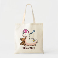 It's a Girl Llama! Tote Bag