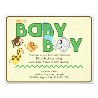 It's a Jungle Baby Shower Invitation