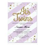It's Twins Baby Shower Gender Reveal Purple Invite
