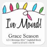 I've Moved  Christmas Tree Lights Envelope seal