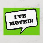 ❤️ I've moved moving postcards for new address