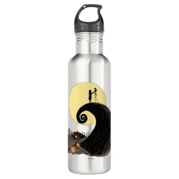 Jack and Sally | Moon Silhouette Stainless Steel Water Bottle