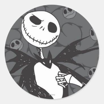 Jack Skellington | Skellington Background Classic Round Sticker