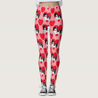 Japanese Chin and Hearts Leggings