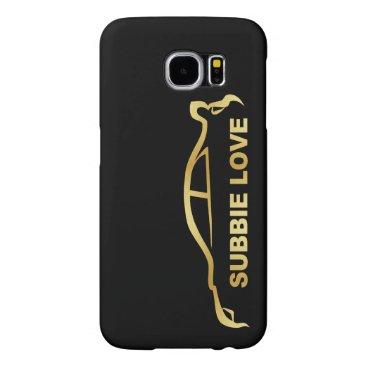 JDM Subby Love (Subaru WRX STI) Gold SIlhouette Samsung Galaxy S6 Case