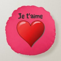 I Love You In French Pillows - Decorative & Throw Pillows ...