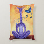 Jeff the Meditating Giraffe Decorative Pillow