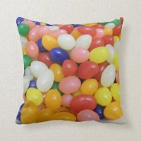 Jelly Beans Throw Pillow | Zazzle