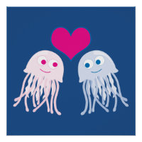 Jellyfish Love Poster