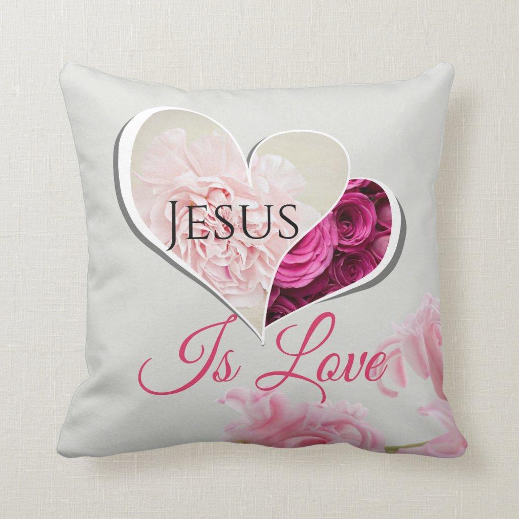 Jesus is Love Pillow