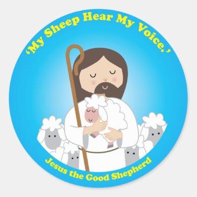 Jesus the Good Shepherd Stickers