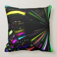 Jewel Tone Abstract Throw Pillow | Zazzle
