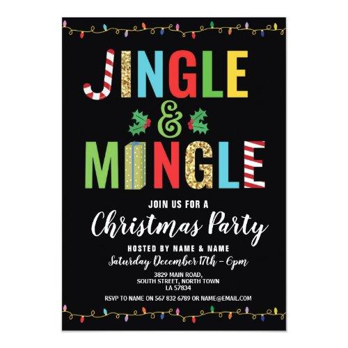 Jingle and Mingle Christmas Party Holidays Invite