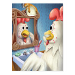 Chicken with Chickenpox Get Well Postcard