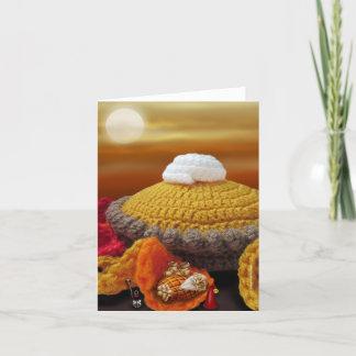 Gnome Thanksgiving Nap Greeting Card