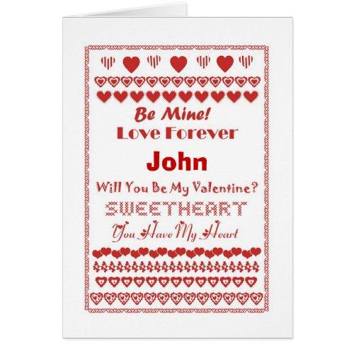 John Happy Valentine's Day Hearts Hearts Hearts