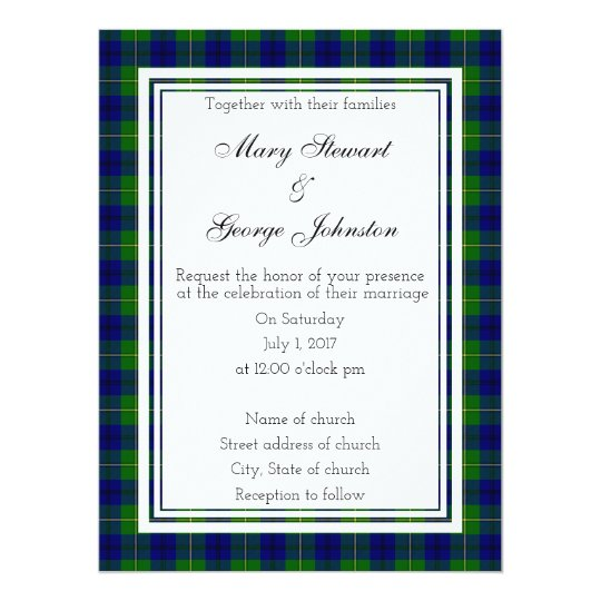 Johnston Scottish Wedding Invitation