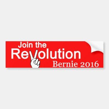 Join The Revolution Bernie 2016 Bumper Sticker
