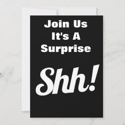 JOIN US ***IT&#39&#x3B;S A SURPRISE*** PARTY INVITATION
