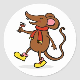 Jolly Mouse sticker