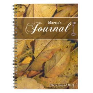 Journal Notebook - Puddle Leaves