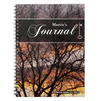 Journal Notebook - Sunset Tree
