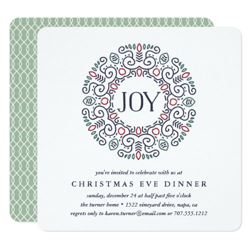 Joy | Christmas Eve Dinner Invitation