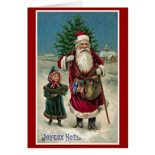 Joyeux Noel Vintage French Christmas Card Zazzle